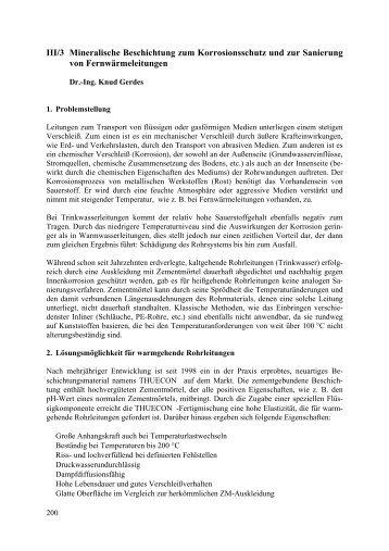 III/3 Mineralische Beschichtung zum Korrosionsschutz und zur - FITR