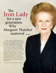 The Iron Lady for a new generation: Why Magaret ... - Fraser Institute
