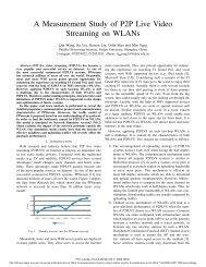 A Measurement Study of P2P Live Video Streaming on WLANs