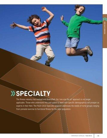 SPECIALTY - Australian Fitness Network