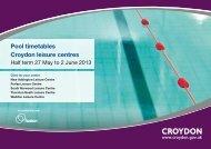 Croydon May Half Term Swimming Timetable ... - Fusion Lifestyle