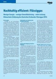Nachhaltig effizient: Flüssiggas - Flüssiggas-Magazin
