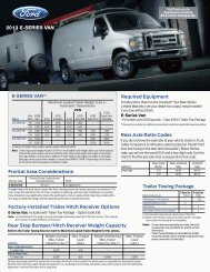 2013 Ford E-Series Van Trailer Towing Selector