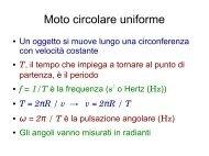 Moto circolare uniforme - Fisica