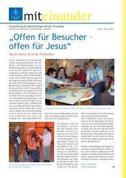 Januar-Februar 2011 - Barmherzigen Brüder Straubing
