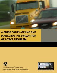 A Guide for Planning and Managing the Evaluation of a TACT Program