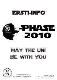 Ersti-Info 2010 - Fachschaft Mathematik/Informatik