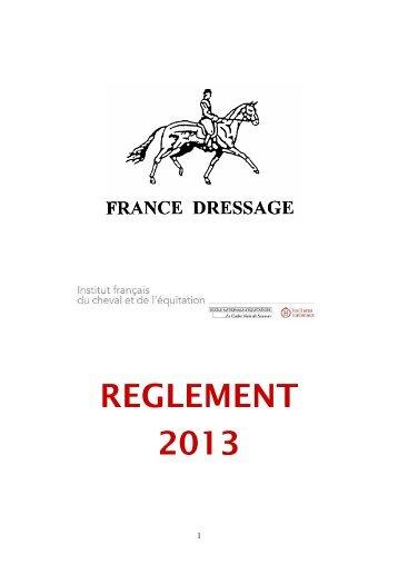 REGLEMENT 2013 - France Dressage