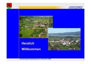 Präsentation [PDF, 3.00 MB] - Galgenen