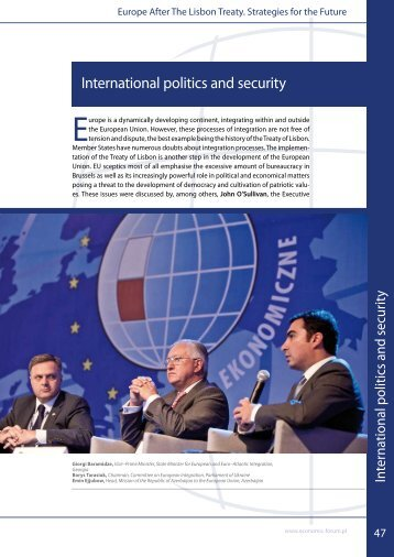 International politics and security - Economic Forum