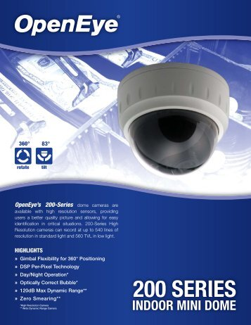 OpenEye's 200-Series - Galaxy Control Systems