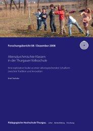 Altersdurchmischte Klassen in der Thurgauer Volksschule - Forum ...