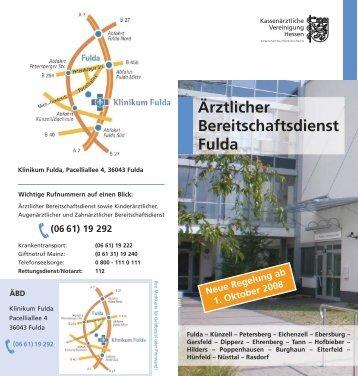 Ärztlicher Bereitschaftsdienst Fulda - tourismus-fulda.de