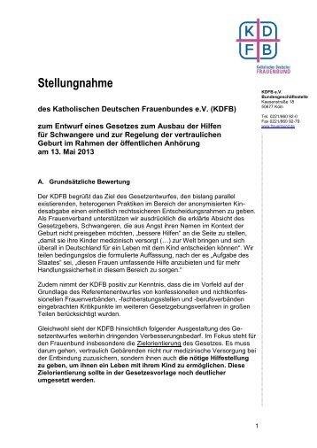 Stellungnahme - Katholischer Deutscher Frauenbund