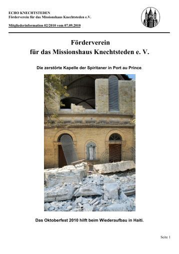 Förderverein für das Missionshaus Knechtsteden e. V.