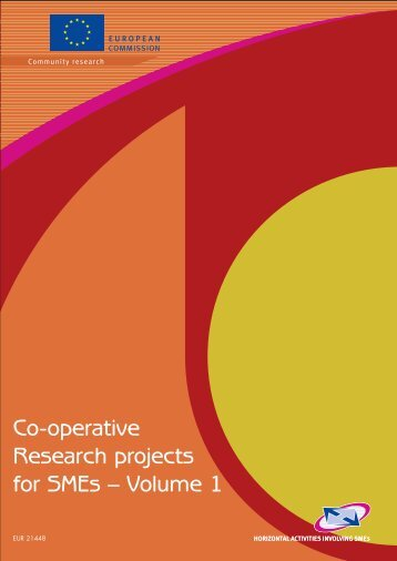 Co-operative Research projects for SMEs - European Commission ...