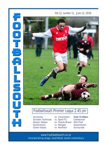 12th June 2010 - Football South