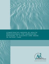 Competencies Needed by Health Professionals for Addressing ...