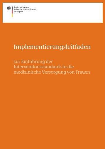 Implementierungsleitfaden - Bundesministerium für Familie ...