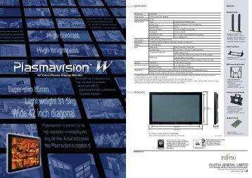 """42""""Color Plasma Display Monitor - Fujitsu General UK"""
