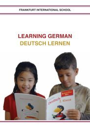 Learning German Handbook. - Frankfurt International School