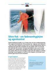 Sikre fisk - om fødevarehygiejne og egenkontrol - FiskerForum.com