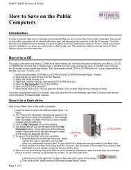 How to Save on the Public Computers - Galter Health Sciences Library