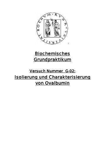 Isolierung und Charakterisierung von Ovalbumin ... - funnycreature.de