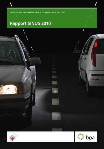 Rapport SINUS 2010 - BfU