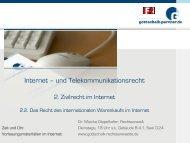 Internationaler Warenkauf im Internet - Dr. Gottschalk ...