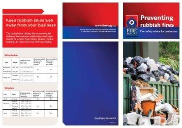 Download PDF: Preventing Rubbish Fires - New Zealand Fire Service