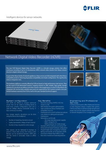 Network Digital Video Recorder (nDVR) - Flir Systems