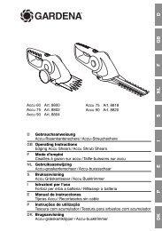 OM, Gardena, Accu-graskantenschaar /Accu-buxusschaar, Art 08800