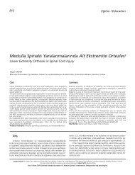 Medulla Spinalis Yaralanmalar›nda Alt Ekstremite ... - FTR Dergisi