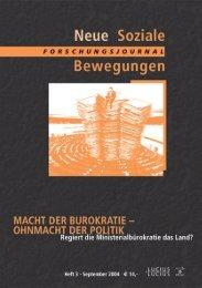 Vollversion (1.4 MB) - Forschungsjournal Neue Soziale Bewegungen