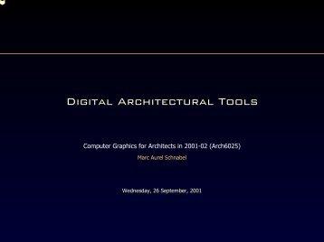 Digital Architectural Tools - formpig