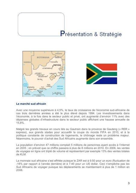 Propositions d'actions – 2008 Maison de la France Afrique du Sud