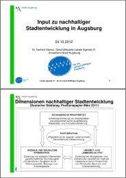 Input zu nachhaltiger Stadtentwicklung in Augsburg - www ...