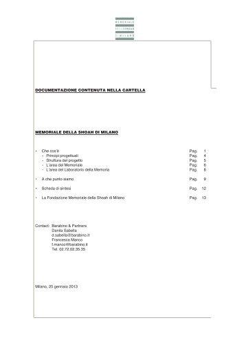 Memoriale della Shoah 27 gennaio 2013 (.pdf 3541 KB)