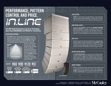 performance, pattern control and price. - Da Vinci prosound