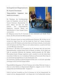 Dr. Susanne Eisenmann - Jugend und freiwillige Dienste