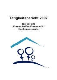 des Vereins - Frauenhaus Oberursel