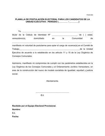 ACTA CONSTITUTIVA DEL CONSEJO COMUNAL (CC)