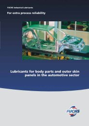 Lubricants for body parts and outer skin panels in the automotive ...