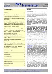 Newsletter Nr. 1 / 2013 - Forum Justizgeschichte eV