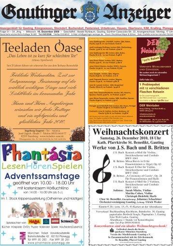 Anzeiger 16.12.2009 - Gautinger-anzeiger.de