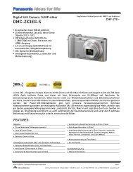 Datenblatt DMC-ZX3EG-S - Foto Basler Aarau