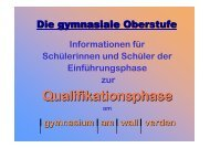 q-phase-info 2009 - gymnasium am wall verden