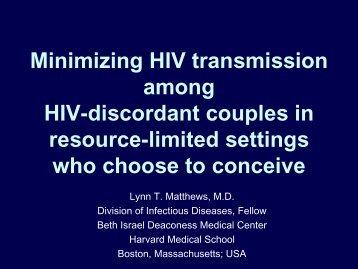 Minimizing HIV transmission among HIV-discordant couples in ...