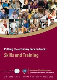 Skills and Training - Federation of Small Businesses
